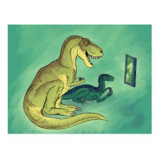 Gamer-Saurus Postcard