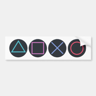 Gamer Shapes Bumper Sticker