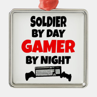 Gamer Soldier Christmas Ornament