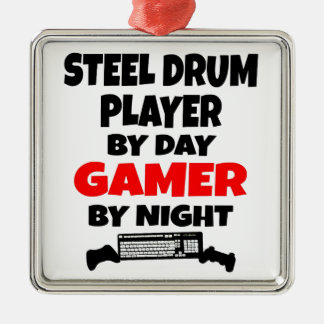 Gamer Steel Drum Player Christmas Ornament