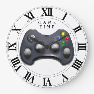 Gamer Time Large Clock