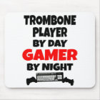 Gamer Trombone Player Mouse Mat