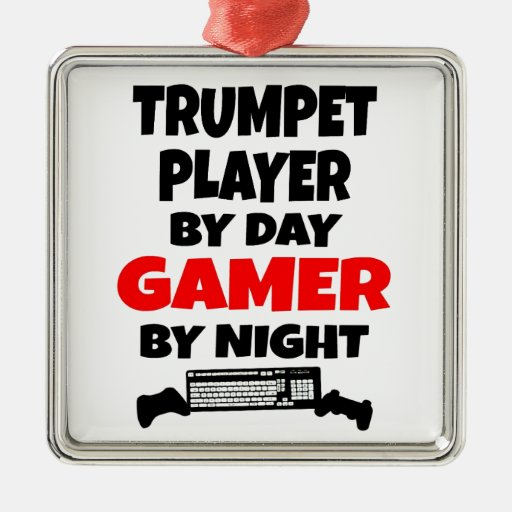 Gamer Trumpet Player Christmas Ornament