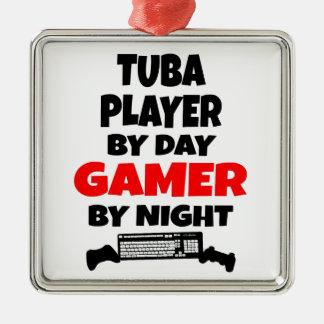 Gamer Tuba Player Christmas Ornament