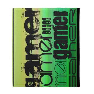 Gamer; Vibrant Green, Orange, & Yellow iPad Folio Case