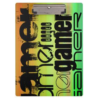 Gamer; Vibrant Green, Orange, & Yellow Clipboards