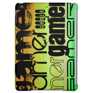Gamer; Vibrant Green, Orange, & Yellow iPad Air Case