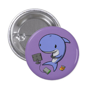 Gamer Whale 3 Cm Round Badge