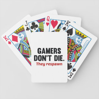 Gamers Don't Die They Respawn Poker Cards