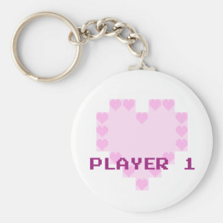 Gamers in Love - Player 1 Key Ring