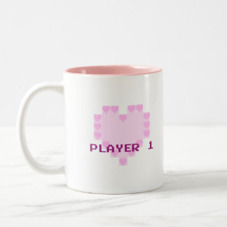 Gamers In Love - Player 1 Two-Tone Coffee Mug