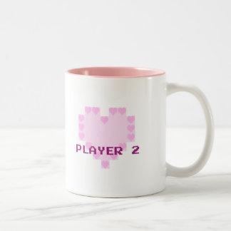 Gamers in Love - Player 2 Two-Tone Coffee Mug