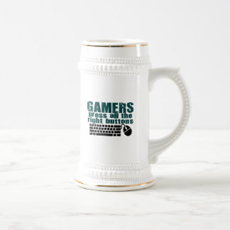 Gamers Press The Right Buttons Beer Stein
