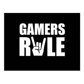 Gamers Rule Postcard