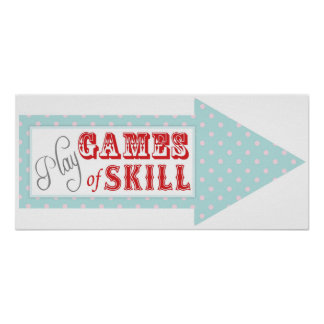 Games Arrow Sign for Carnival Circus Birthday RT