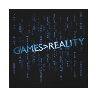 Games Greater Than Reality Gallery Wrapped Canvas