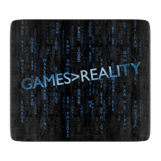 Games Greater Than Reality Cutting Board