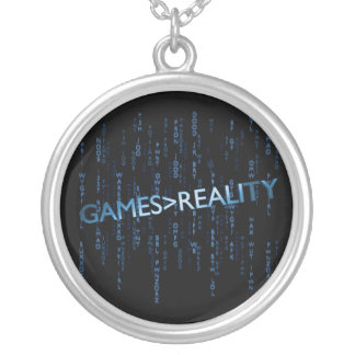 Games Greater Than Reality Silver Plated Necklace