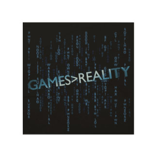 Games Greater Than Reality Wood Canvas