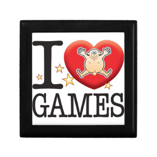 Games Love Man Small Square Gift Box