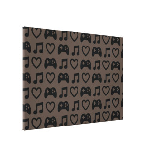 Games Music Love 1 Gallery Wrap Canvas