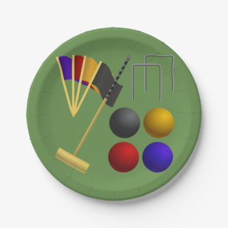 Games Of Croquet Paper Plates