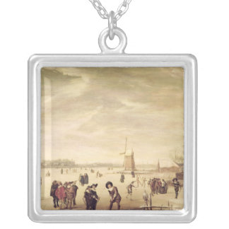 Games on the Ice Silver Plated Necklace