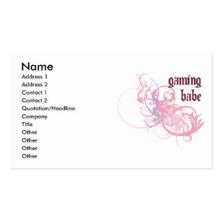 Gaming Babe Business Card Templates