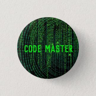gaming button- code master 3 cm round badge