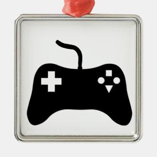 Gaming Console Silver-Colored Square Decoration