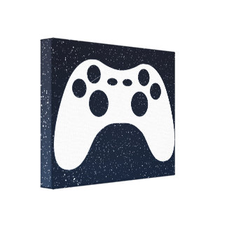 Gaming Controls Graphic Stretched Canvas Print