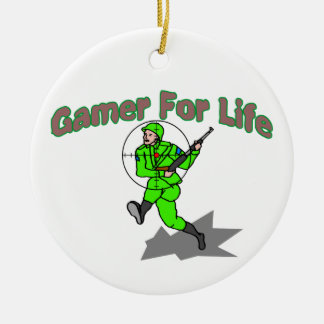 Gaming For Life FPS Double-Sided Ceramic Round Christmas Ornament