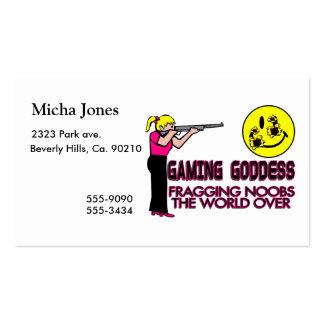 Gaming Goddess FPS Business Cards