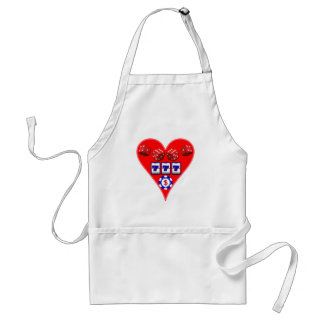 GAMING HEART ADULT APRON