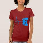 Gaming Heart Beat - gamer video games geek pad T Shirt