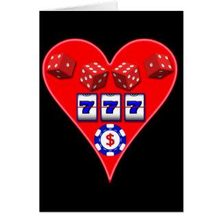 GAMING HEART GREETING CARD