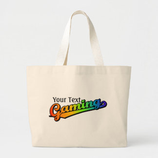 Gaming in Rainbow Colors Add text Bags