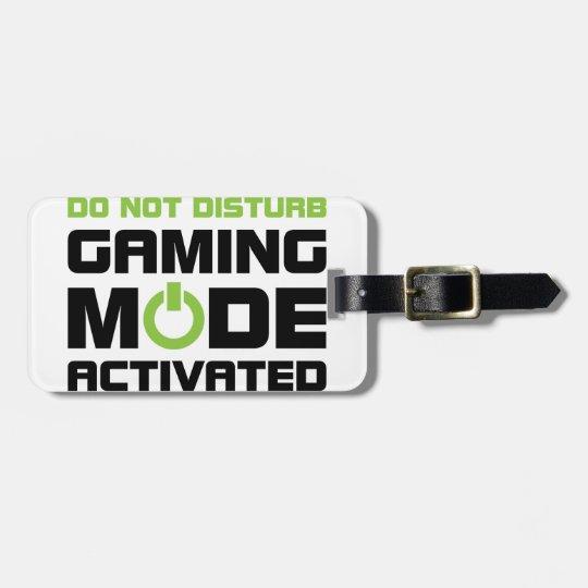 Gaming Mode Luggage Tag