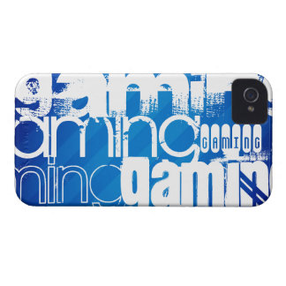 Gaming; Royal Blue Stripes iPhone 4 Case-Mate Cases