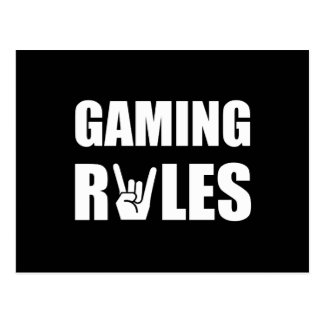 Gaming Rules Postcard