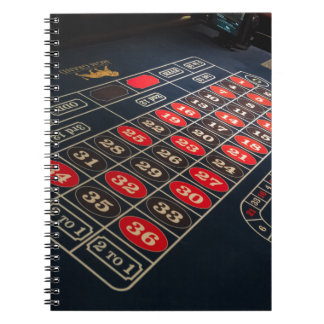 Gaming Table Roulette Las Vegas Notebook