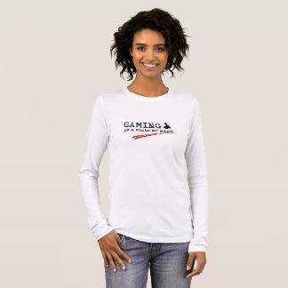 GAMING Women's Long Sleeve T-Shirt, White Long Sleeve T-Shirt