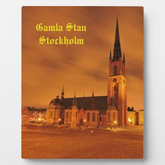 Gamla Stan in Stockholm, Sweden Plaque