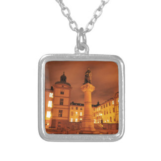 Gamla Stan in Stockholm, Sweden Silver Plated Necklace