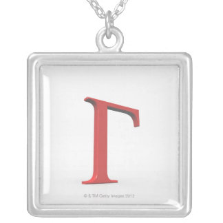 Gamma 2 silver plated necklace