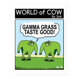 GAMMA GRASS TASTES GOOD! POSTCARD