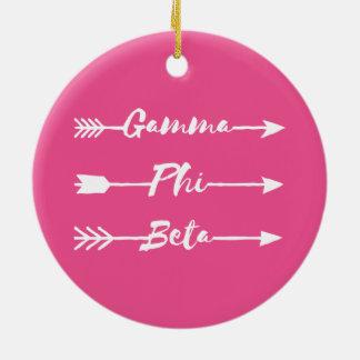 Gamma Phi Beta Arrow Christmas Ornament