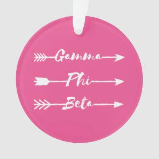 Gamma Phi Beta Arrow Ornament
