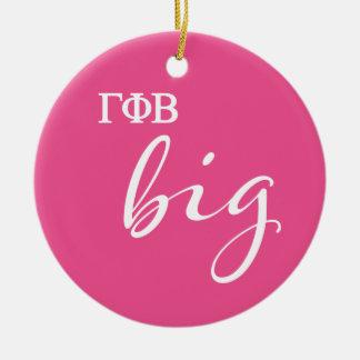 Gamma Phi Beta Big Script Christmas Ornament
