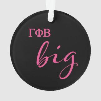 Gamma Phi Beta Big Script Ornament